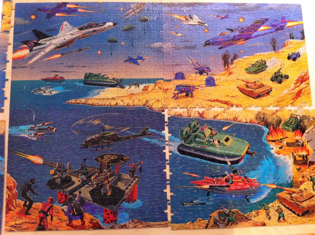 1985 gi joe mural puzzle set joe a day for Mural joe painting